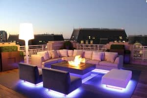 LED lighting outdoor space