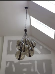 our work lighting fixture installation